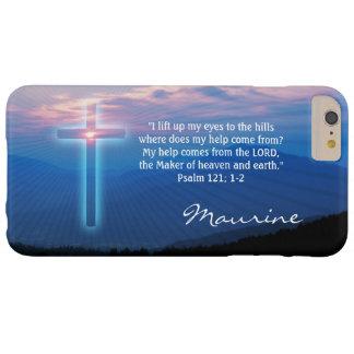 Capas iPhone 6 Plus Barely There Foto e cruz das montanhas. Salmo 121; 1-2