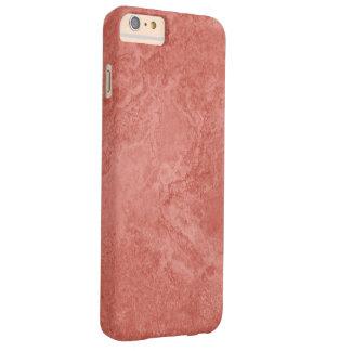 Capas iPhone 6 Plus Barely There Ilustração no teste padrão de mármore vermelho