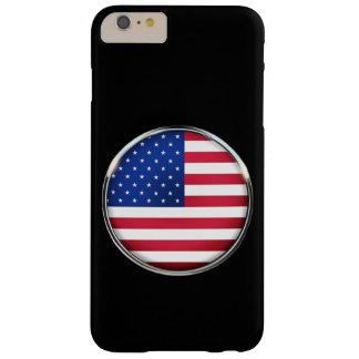 Capas iPhone 6 Plus Barely There iPhone 6/6S do botão da bandeira dos EUA mais mal