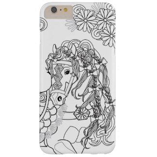 Capas iPhone 6 Plus Barely There iPhone Prancing 6/6sPlus do cavalo da margarida,