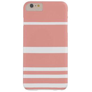 Capas iPhone 6 Plus Barely There Listras corais Pastel de Scandi
