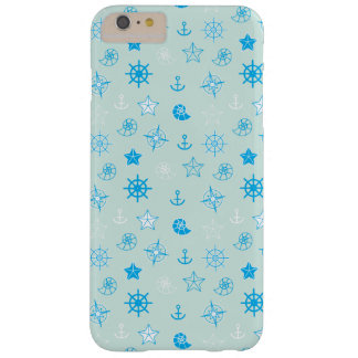 Capas iPhone 6 Plus Barely There Luz - teste padrão náutico azul