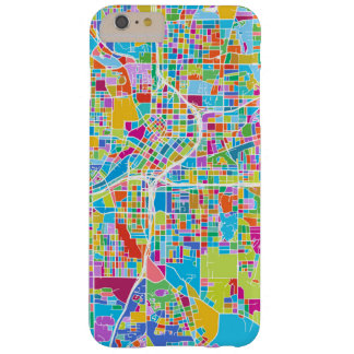 Capas iPhone 6 Plus Barely There Mapa colorido de Atlanta