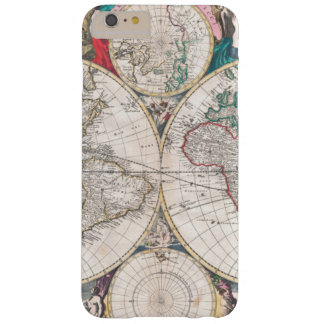 Capas iPhone 6 Plus Barely There Mapa do mundo antigo do Dobro-Hemisfério