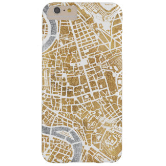 Capas iPhone 6 Plus Barely There Mapa dourado da cidade de Roma