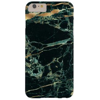 Capas iPhone 6 Plus Barely There Mármore de PixDezines, verde da cerceta + Veias do