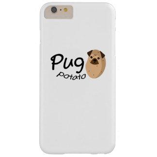 Capas iPhone 6 Plus Barely There O amante engraçado do presente da batata do Pug do