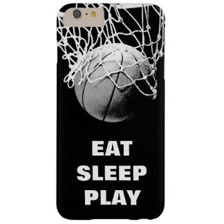 Capas iPhone 6 Plus Barely There O branco preto come o basquetebol do jogo do sono