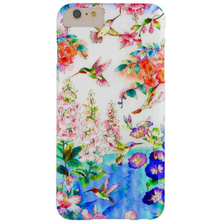 Capas iPhone 6 Plus Barely There O colibri floresce a paisagem
