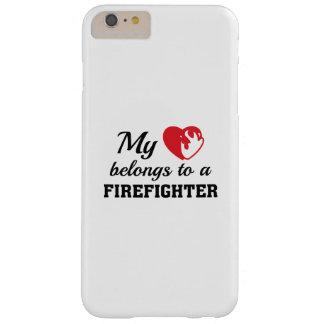 Capas iPhone 6 Plus Barely There O coração pertence sapador-bombeiro
