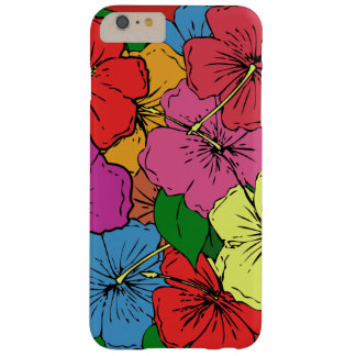 Capas iPhone 6 Plus Barely There O hibiscus colorido floresce #6