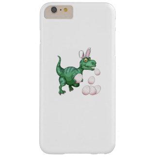 Capas iPhone 6 Plus Barely There Ovo da páscoa engraçado do coelho de T-Rex do