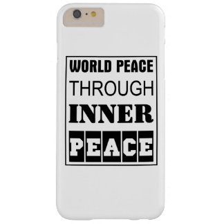 Capas iPhone 6 Plus Barely There paz de mundo com a paz interna
