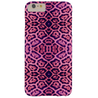 Capas iPhone 6 Plus Barely There Pele de Jaguar no rosa e no roxo