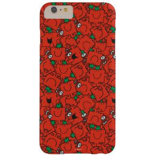 Capas iPhone 6 Plus Barely There Pesos de levantamento do Sr. Forte | vermelhos &