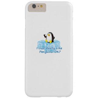 Capas iPhone 6 Plus Barely There Pinguim engraçado para mulheres dos homens das