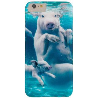 Capas iPhone 6 Plus Barely There Praia do porco - porcos da natação - porco