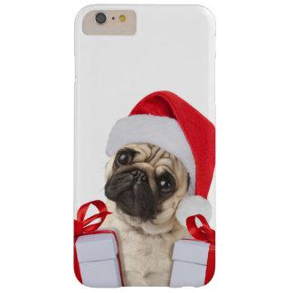 Capas iPhone 6 Plus Barely There Presentes do Pug - cão claus - pugs engraçados -