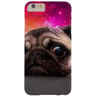 Capas iPhone 6 Plus Barely There pug do espaço - comida do pug - biscoito do pug