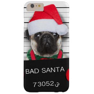 Capas iPhone 6 Plus Barely There Pug do Natal - cão do mugshot - pug do papai noel