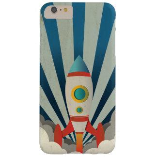 Capas iPhone 6 Plus Barely There Rocket colorido com raios azuis e fumo branco