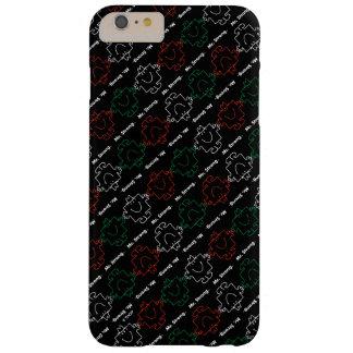Capas iPhone 6 Plus Barely There Sr. Forte teste padrão vermelho, branco & verde de