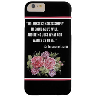Capas iPhone 6 Plus Barely There St. Therese poucas flores dos rosas do rosa da