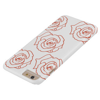 Capas iPhone 6 Plus Barely There Telefone dos rosas e caso do iPad