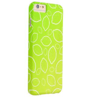 Capas iPhone 6 Plus Barely There teste padrão amarelo verde fresco do limão do