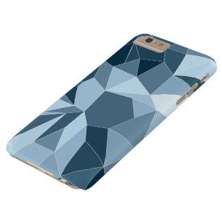 Capas iPhone 6 Plus Barely There Teste padrão azul protegido diamante de Giometric