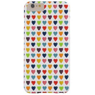 Capas iPhone 6 Plus Barely There Teste padrão do coração da aguarela