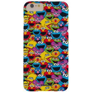 Capas iPhone 6 Plus Barely There Teste padrão do grupo do Sesame Street