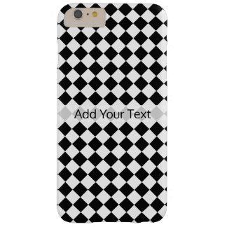 Capas iPhone 6 Plus Barely There Teste padrão preto e branco do diamante por