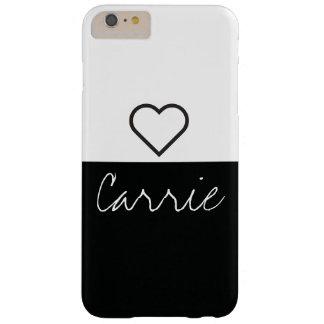 Capas iPhone 6 Plus Barely There Texto customizável & pia batismal listrados pretos