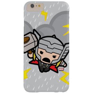Capas iPhone 6 Plus Barely There Thor de Kawaii com relâmpago