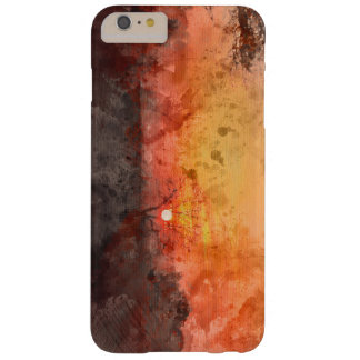 Capas iPhone 6 Plus Barely There Watercolour do por do sol da paisagem dos invernos