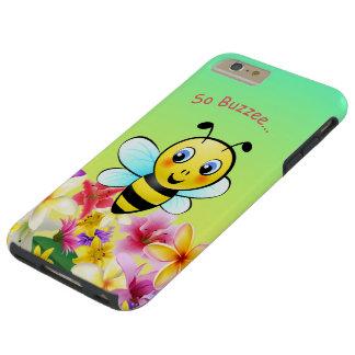 Capas iPhone 6 Plus Tough Abelha bonito com flores coloridas