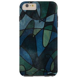 Capas iPhone 6 Plus Tough Abstrato do vitral de Digitas da cerceta do verde