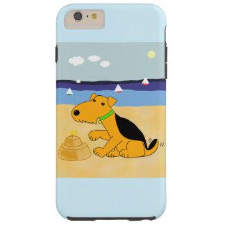Capas iPhone 6 Plus Tough Airedale Terrier no iPhone 6/6s da praia mais o