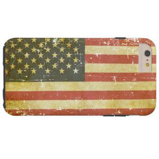 Capas iPhone 6 Plus Tough Bandeira americana patriótica gasta