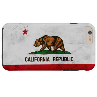 Capas iPhone 6 Plus Tough Bandeira patriótica do estado de Califórnia do