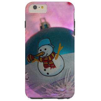 Capas iPhone 6 Plus Tough Boneco de neve - bolas do Natal - Feliz Natal