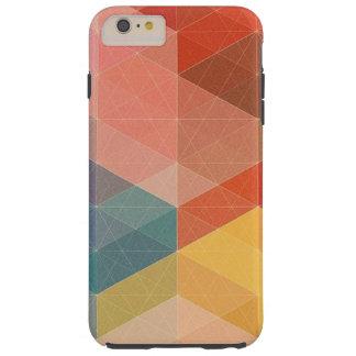 Capas iPhone 6 Plus Tough Caixa geométrica colorida do iPhone 6, caso do