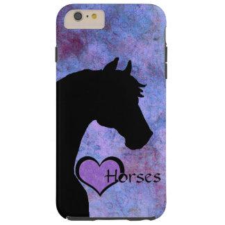 Capas iPhone 6 Plus Tough Cavalos do coração II (roxo)