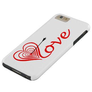 Capas iPhone 6 Plus Tough Coração amor alvo com seta