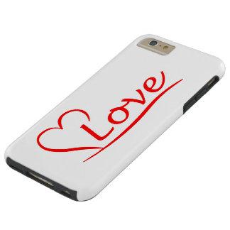 Capas iPhone 6 Plus Tough Coração com amor