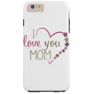 Capas iPhone 6 Plus Tough Coração do dia das mães da mamã do amor