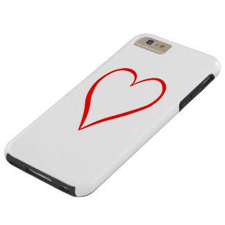 Capas iPhone 6 Plus Tough Coração pintado em pano de fundo branco
