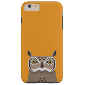 Capas iPhone 6 Plus Tough Coruja no fundo alaranjado