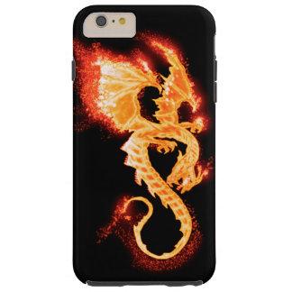 Capas iPhone 6 Plus Tough dragão do fogo